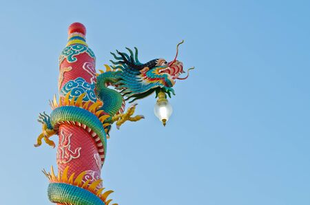 dragon statue at Chinese shrine ,Thailand photo