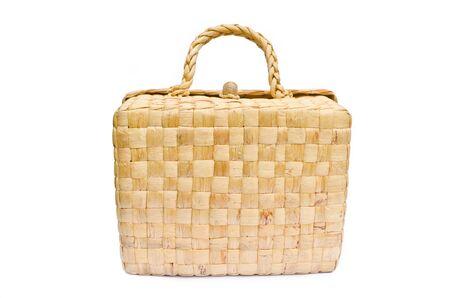 handmade box made from dry water hyacinth photo