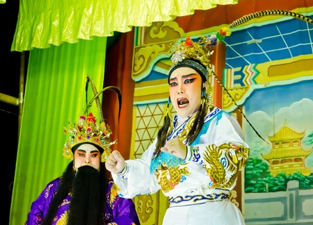 Chinese Opera by unidentified actor and actress ,Thailand Stock Photo - 12045959