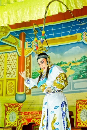 Chinese Opera by unidentified  actress ,Thailand Stock Photo - 12045964