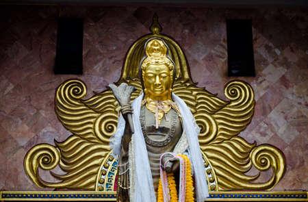 bodhisattva: Buddhist bodhisattva image at Chinese temple in Thailand
