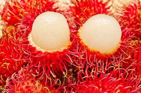 Close up of Rambutan fruits