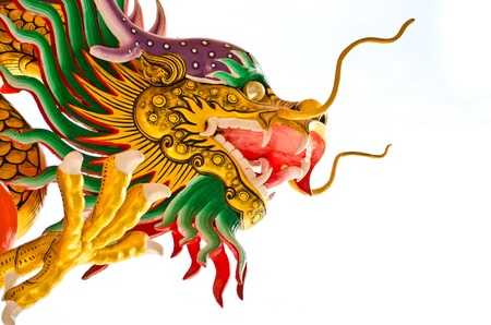 replica: Chinese dragon isolated on white background Stock Photo