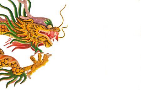 Chinese dragon isolated on white background photo