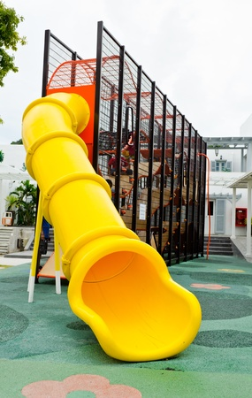 Playground equipment at an outdoor park photo
