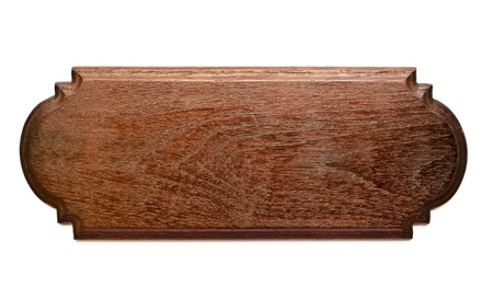 Isolated Teak Wood Plank