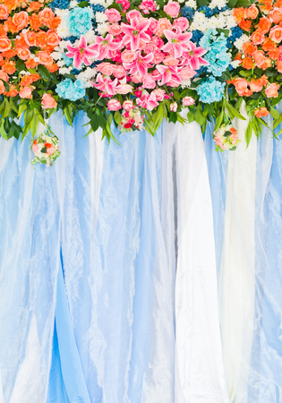 Beautiful flower wedding decoration Stock Photo