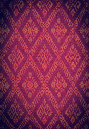 Background of Thai style fabric pattern photo