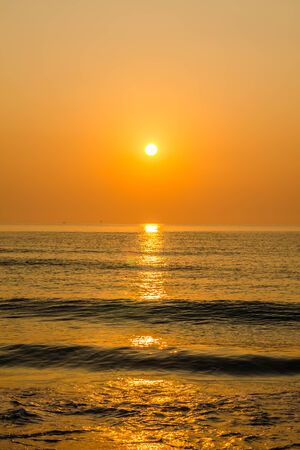 Sunrise over ocean, Nature composition  Stock Photo