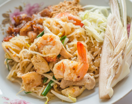 Pad Thai ,stir fried noodle with shrimps  photo