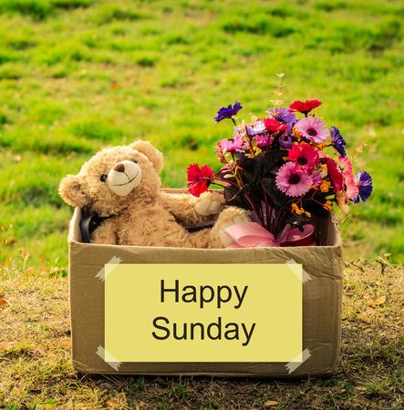 sunday: happy Sunday Stock Photo