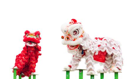 Danza del leone cinese costume durante celebrazione del Capodanno cinese Archivio Fotografico - 36232954