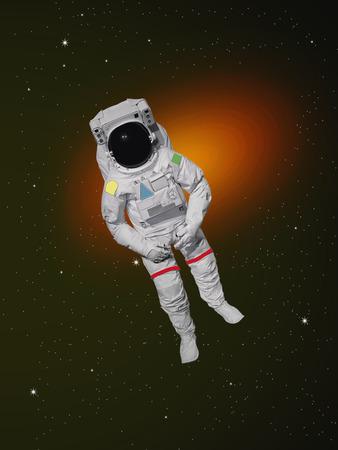 astronaut: Astronauta en el espacio exterior Foto de archivo