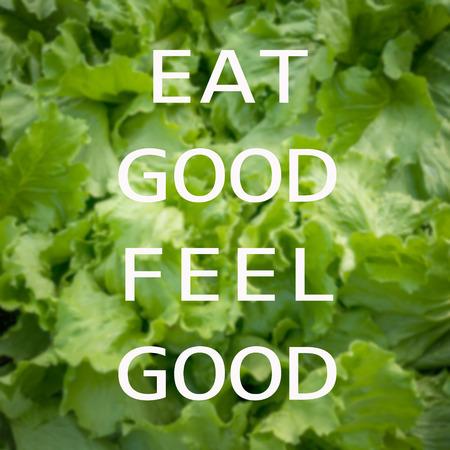 nutricion: Cita: Coma buena buena sensación en el fondo de verduras