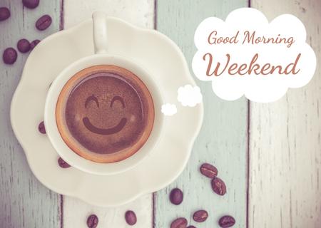 fin de semana: Buen fin de semana por la mañana Foto de archivo