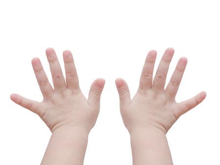 白で赤ちゃんの手