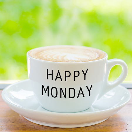 hedonism: Happy Monday on coffee cup