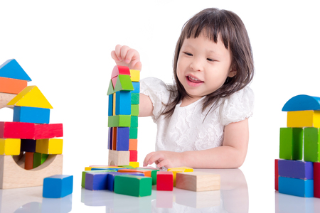 Girl playing wood blocks