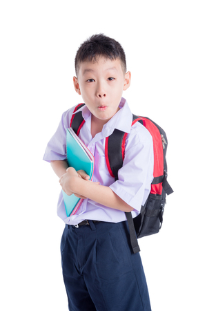 Asian schoolboy in uniform photo