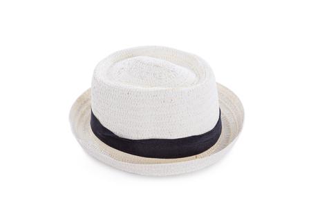 White hat over white background Stock Photo