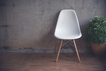 White chair in a room