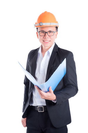 Engineer man over white background