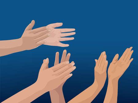 Clapping Hands on illustration graphic vector