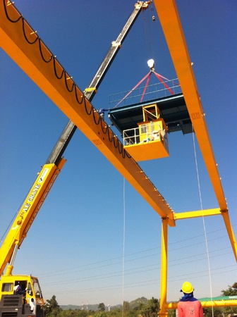 gantry: Installation gantry crane