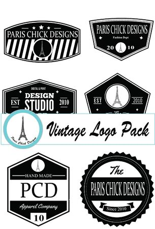 Paris Chick Designs - Vintage Logo Pack