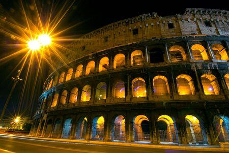 arcs: Late evening shot of Colosseum with lighten arcs