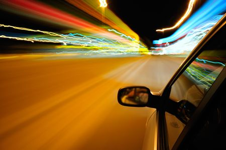 Light trails during night driving Stock Photo - 3460164
