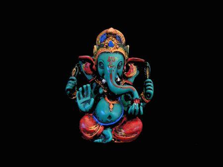 Ganesha Festival of India On a black background Stock Photo