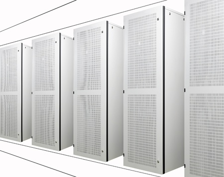 The communication and internet network server Stock Photo - 8671281