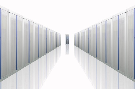 secure site: The communication and internet network server Stock Photo