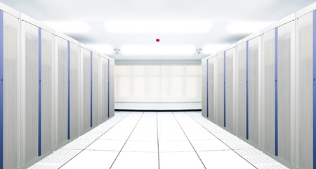 The communication and internet network server room Stock Photo - 8793633