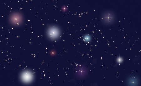 Color of the universe filled with stars photo