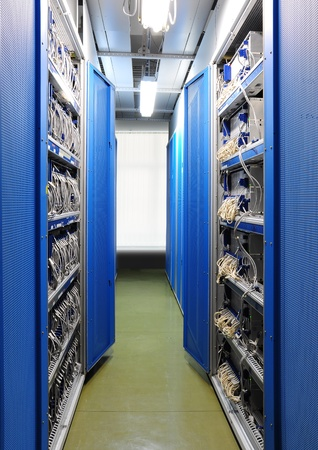 The communication and internet network server room photo