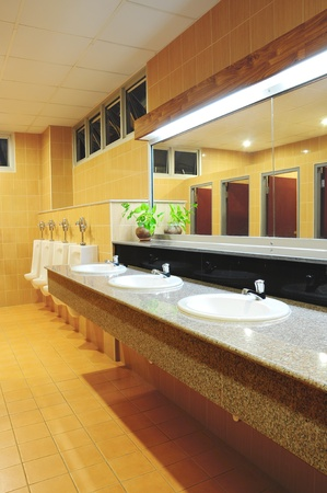Handbasin and mirror in toilet Stock Photo - 8896294