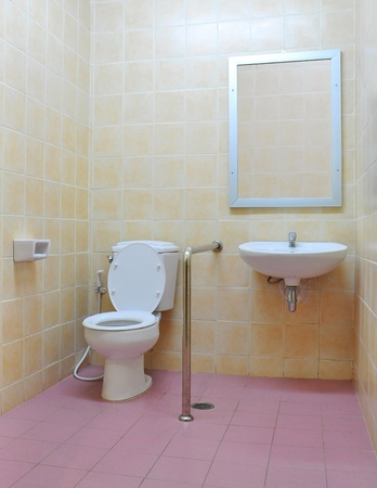washroom: Disabled toilet Stock Photo