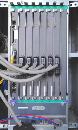 The communication and internet network server photo