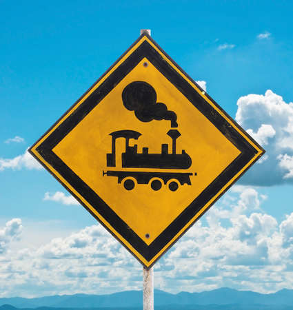 beware: traffic sign - beware train