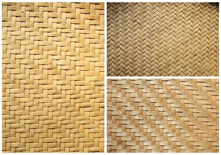 collection of texture bamboo basket for background photo
