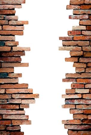 pared rota: pared porosa de fondo