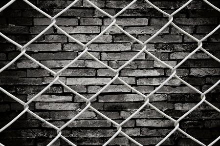 cadenas: Valla de cadena enlace Ver fondo de pared grunge Foto de archivo