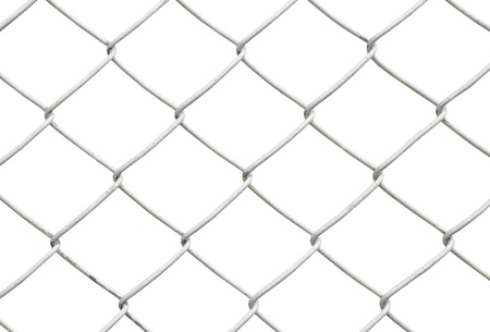 chain link fence isolated on white background Stock Photo - 9276960