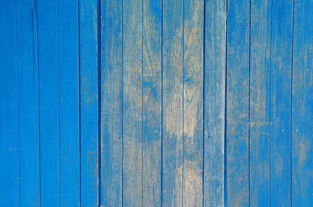 grungy wood: old blue wooden background