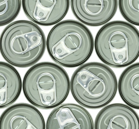 aluminum cans and ring pull photo