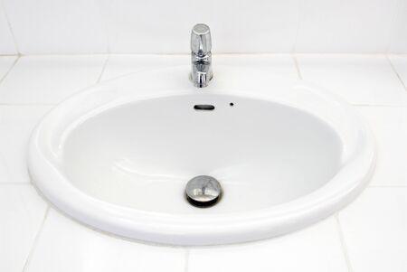 Bathroom at office. Handbasin in toilet Stock Photo - 9456179
