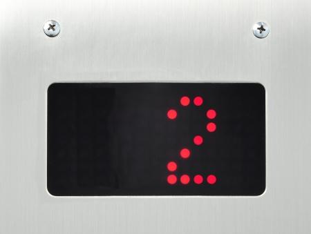 floor machine: Sal�n de n�mero 2 monitor en ascensor