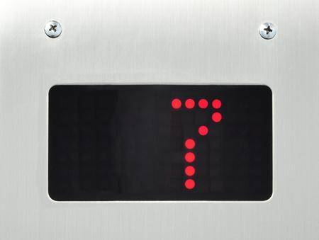 monitor show number 7 floor in elevator Stock Photo - 9456180